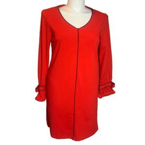 NWT Sharagano Red Mod Bow Sleeve Dress
